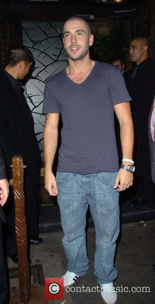 Shayne Ward leaving Mahiki nightclub London, England