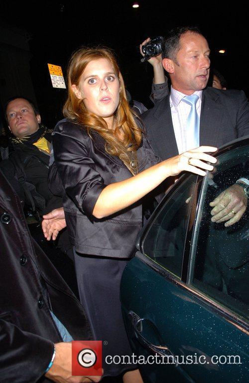 Princess Beatrice leaving Mahiki nightclub London, England