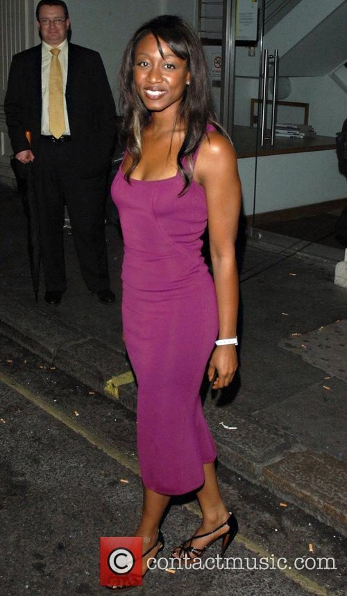 Arriving at the Comic Relief after party held...