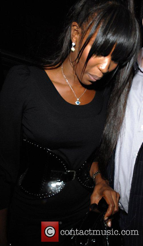 Naomi Campbell arriving at the Comic Relief after...