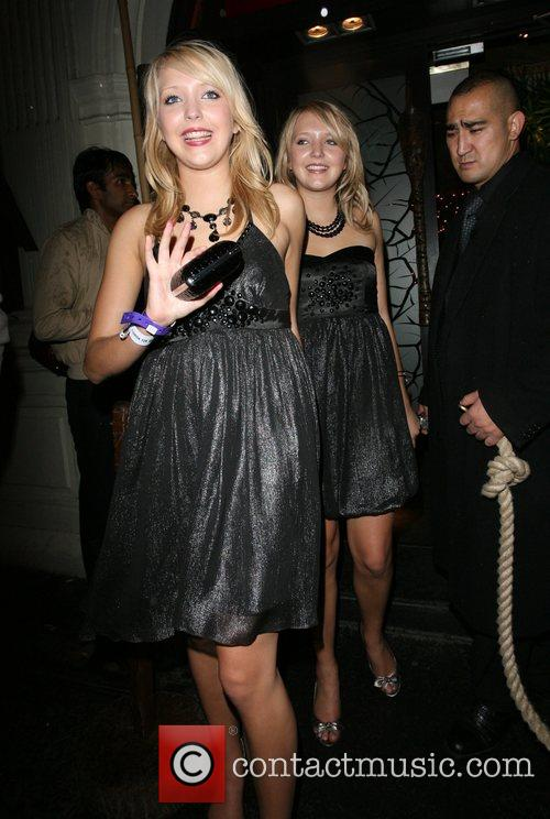 Amanda Marchant and Sam Marchant leaving Mahiki nightclub