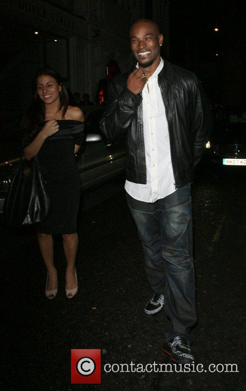 Tyson Beckford leaving Mahiki nightclub London, England