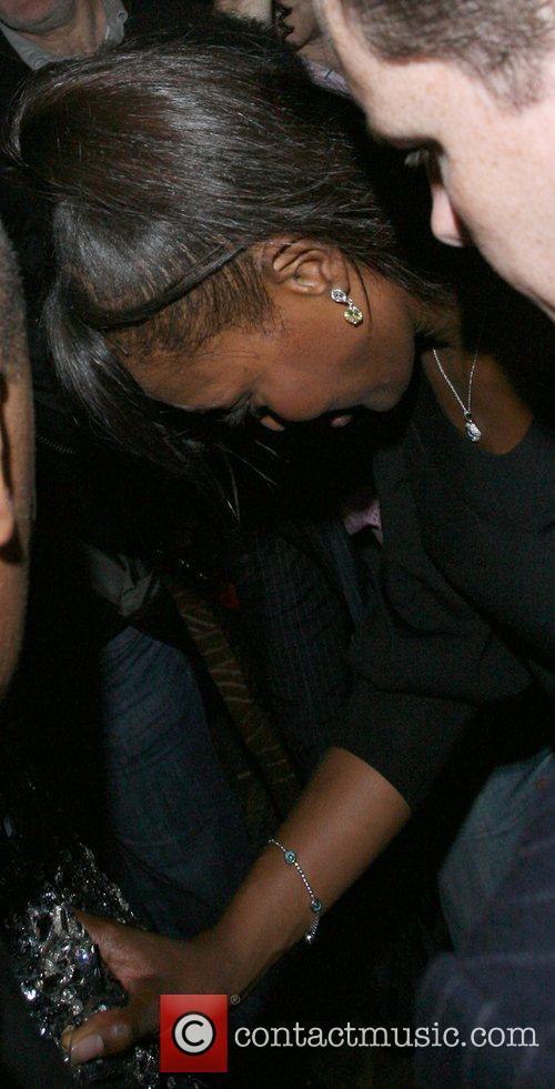 Naomi Campbell leaving Mahiki nightclub London, England