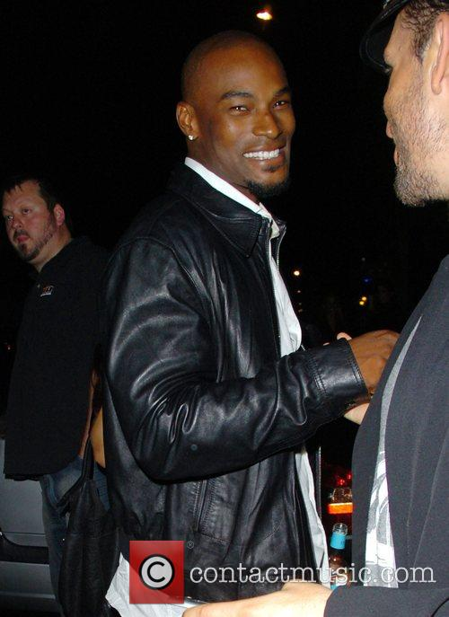 Tyson Beckford leaving Mahiki nightclub London, England