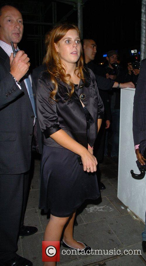 Princess Beatrice  leaving Mahiki nightclub London, England