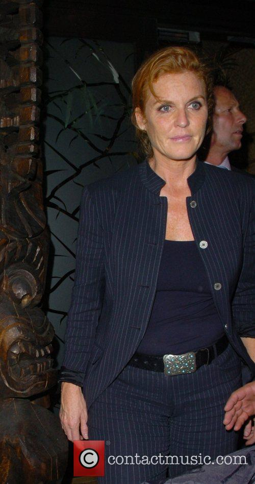 The Duchess of York Sarah Ferguson leaving Mahiki...