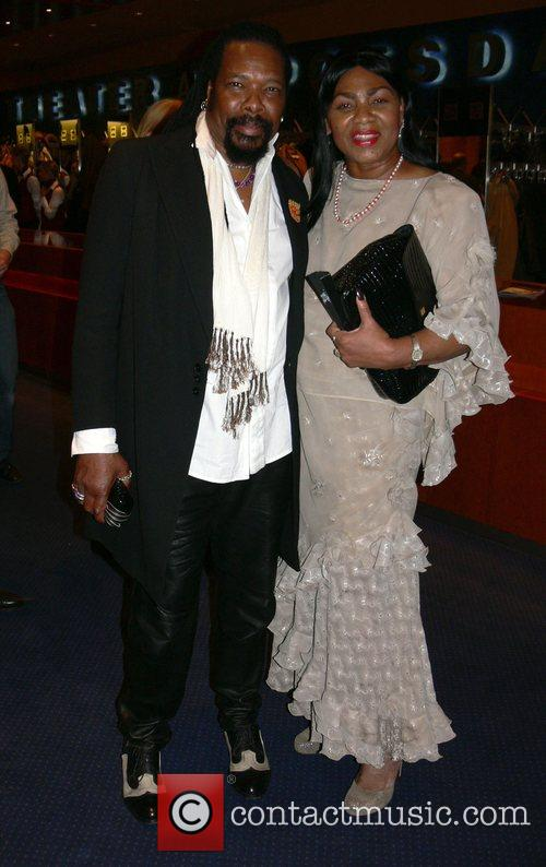 Marcus James and Marcia Barrett Aftershow party of...