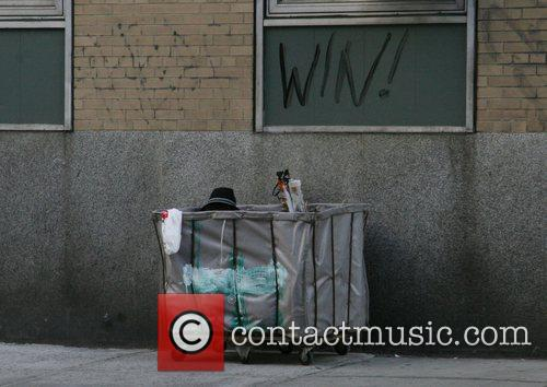 A man relaxes in a New York City...