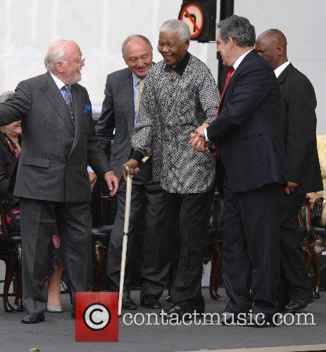 Richard Attenborough, Ken Livingstone and Nelson Mandela 2