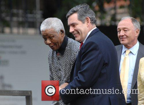 Nelson Mandela, Gordon Brown and Ken Livingstone 2