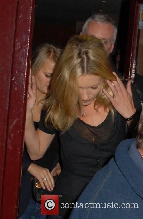 Kate Moss leaves Mango restaurant London, England