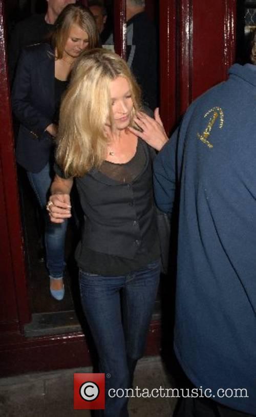 Kate Moss leaves Mango restaurant