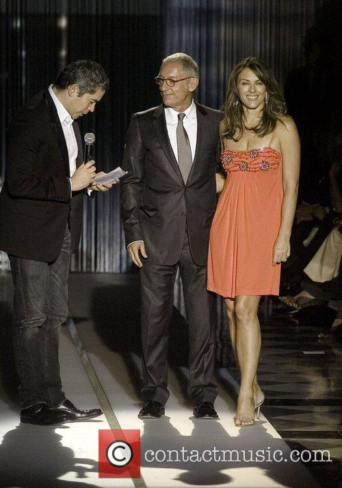 Elizabeth Hurley on stage at the 2007 Mango...