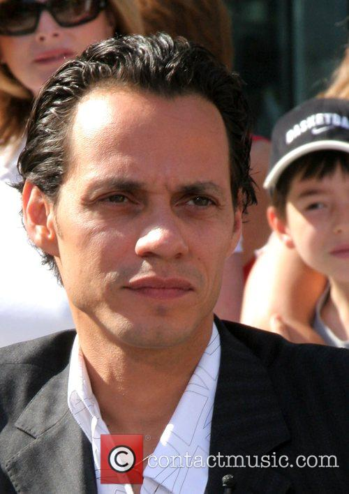 Marc Anthony taping an early morning talk show...