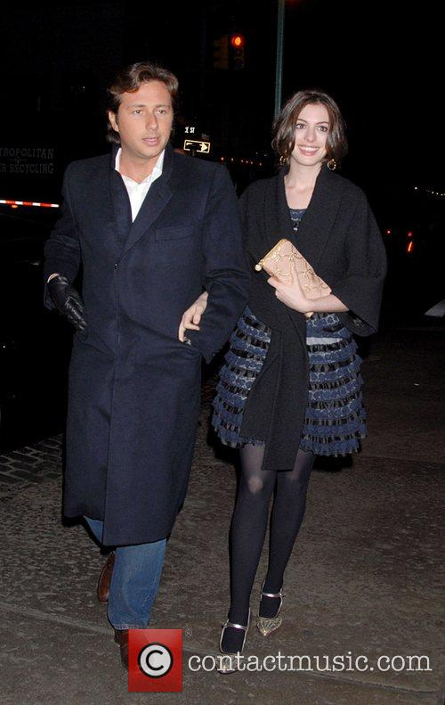 Anne Hathaway with guest Attends the after party...