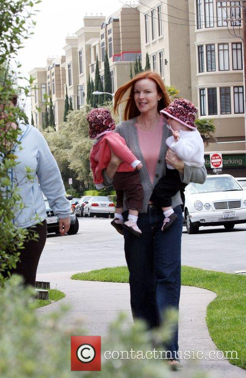 Marcia Cross spotted in a coffee shop in...