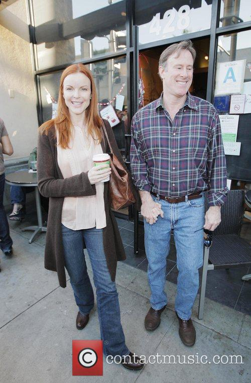 Marcia Cross and Tom Mahoney out and about...