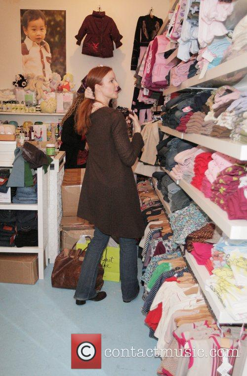 Marcia Cross out and about shopping  Beverly...