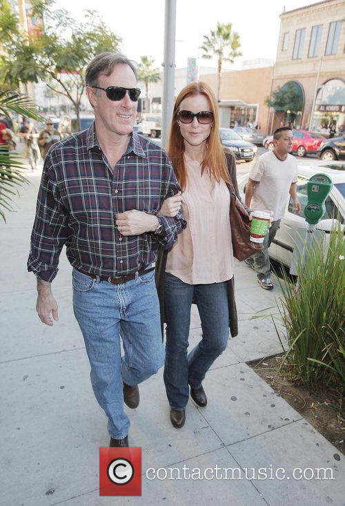 Tom Mahoney and Marcia Cross out and about...