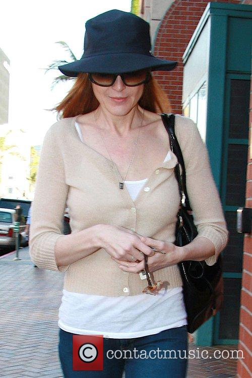 Desperate Housewives actress Marcia Cross leaving a medical...