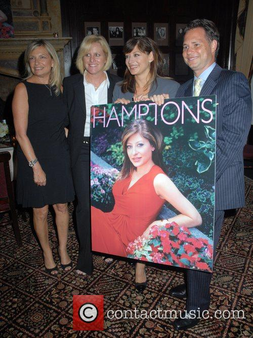 Maria Bartiromo, Jason Binn, and guests Hamptons Magazine...