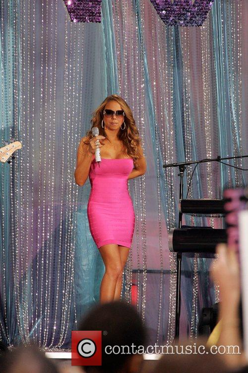 Mariah Carey performing on ABC's 'Good Morning America'...