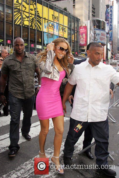 Mariah Carey arriving to perform on ABC's 'Good...