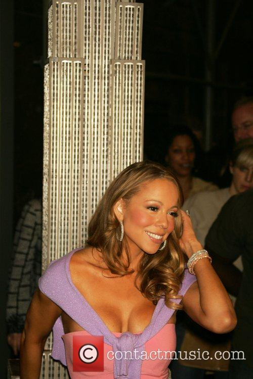 Mariah Carey attends the lighting ceremony at the...