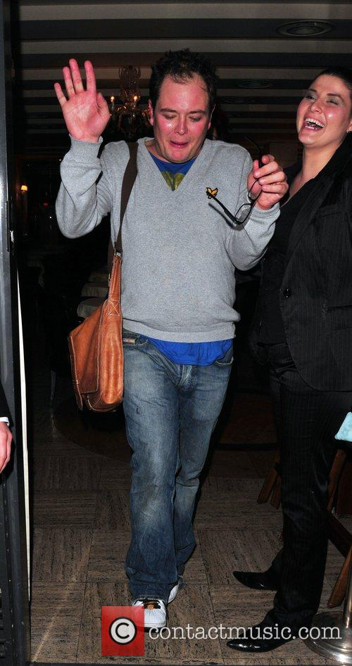 Alan Carr leaving Cipriani restaurant. London, England