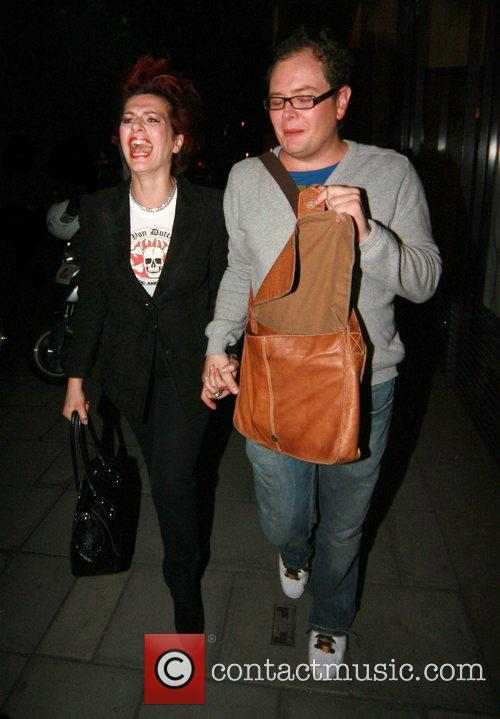 Cleo Rocos and Alan Carr  leaving Cipriani...