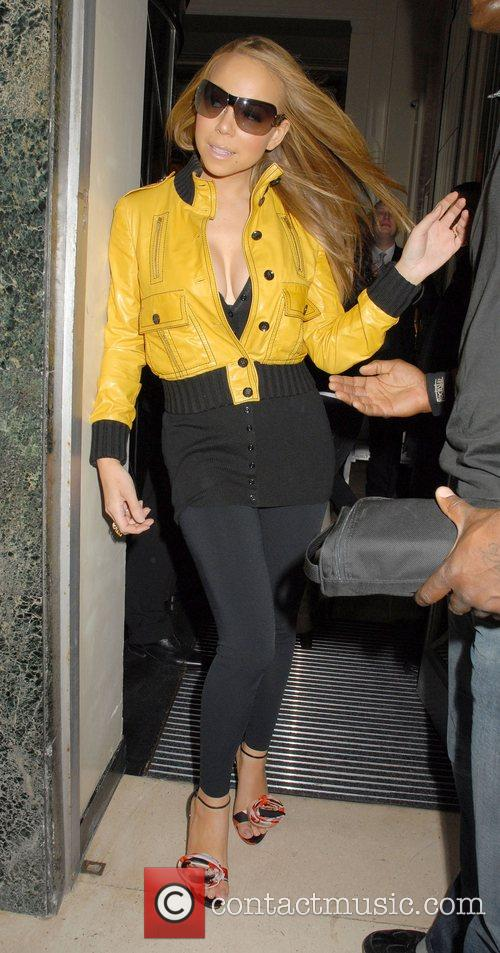 Mariah Carey and leaving Claridges hotel. 3