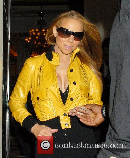 Mariah Carey and leaving Claridges hotel. 9
