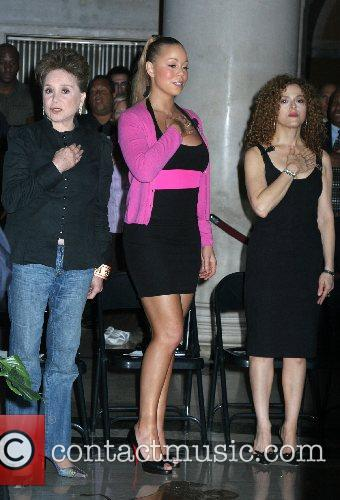 Cindy Adams, Mariah Carey, Bernadette Peters Unveiling of...