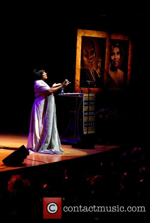 Performing at The Marian Anderson Award Gala held...