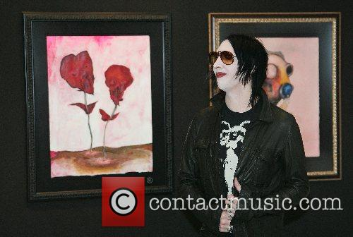 Marilyn Manson presents his own art exhibition at...