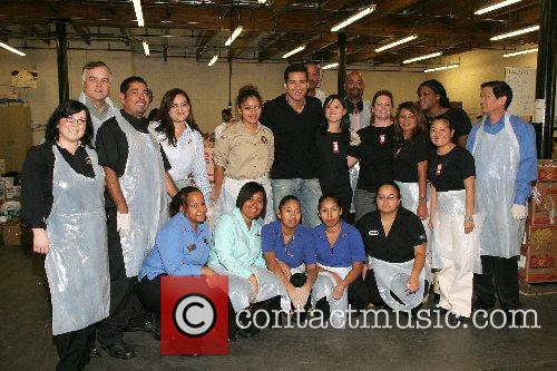 Mario Lopez and Food Bank Staff Mario Lopez...