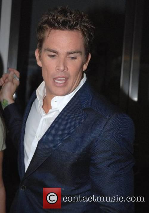 Mark McGrath leaving the Fox Television Studios after...