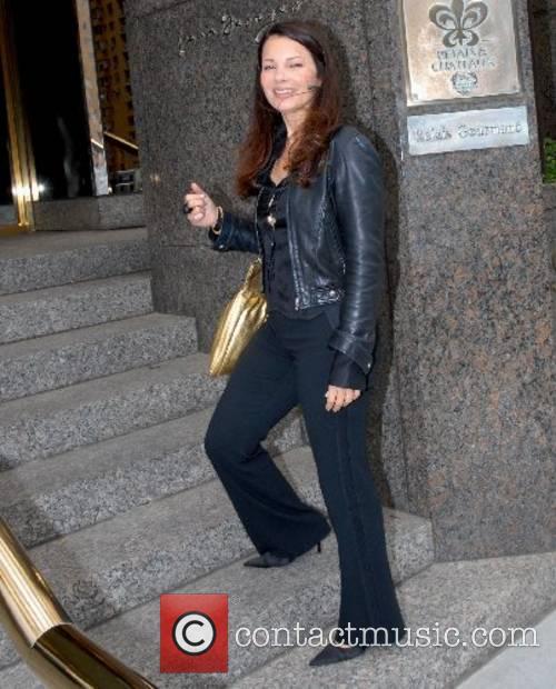 Fran Drecher arrives back at her hotel in...