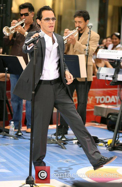 Mark Anthony performs on NBC Today Show Morning...