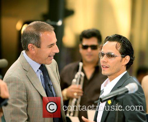 Marc Anthony and Matt Lauer on NBC Today...