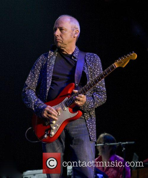 Mark Knopfler performing live at the NEC Arena...