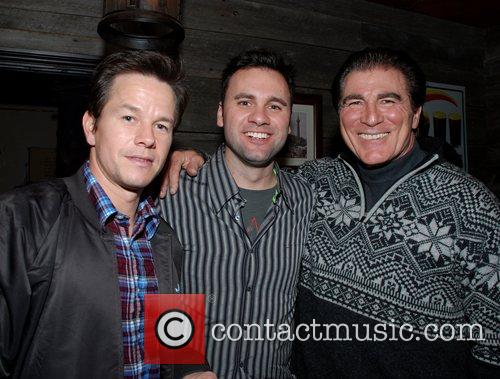 Mark Wahlberg and Vince Papale (r) Q102 and...