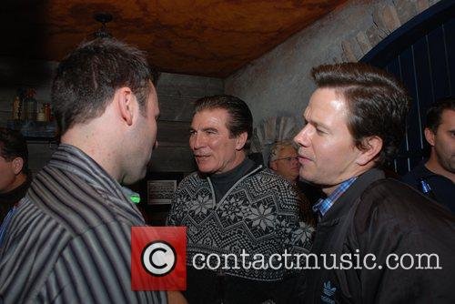 Vince Papale and Mark Wahlberg Q102 and Q102...