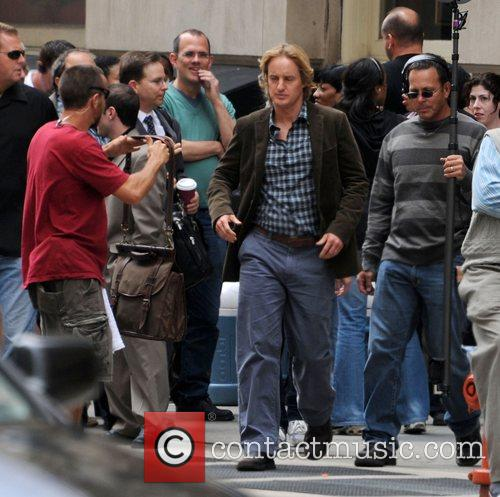 Owen Wilson on the set of 'Marley and...