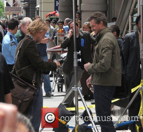 Owen Wilson and Eric Dane on the set...