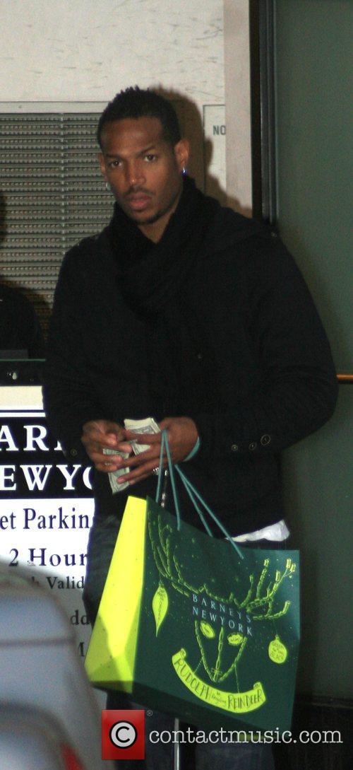 Marlon Wayans goes shopping at Barneys