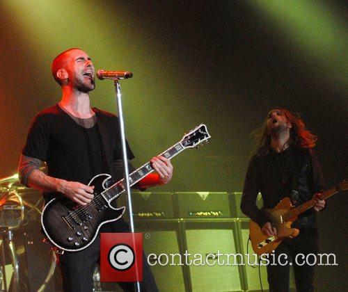 Performing at the Wembley Arena