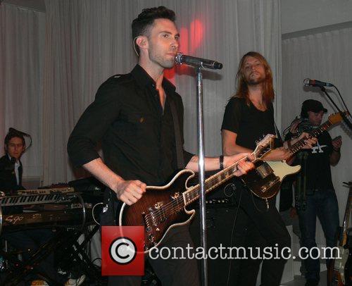 Adam Levine and James Valentine Maroon 5 performing...
