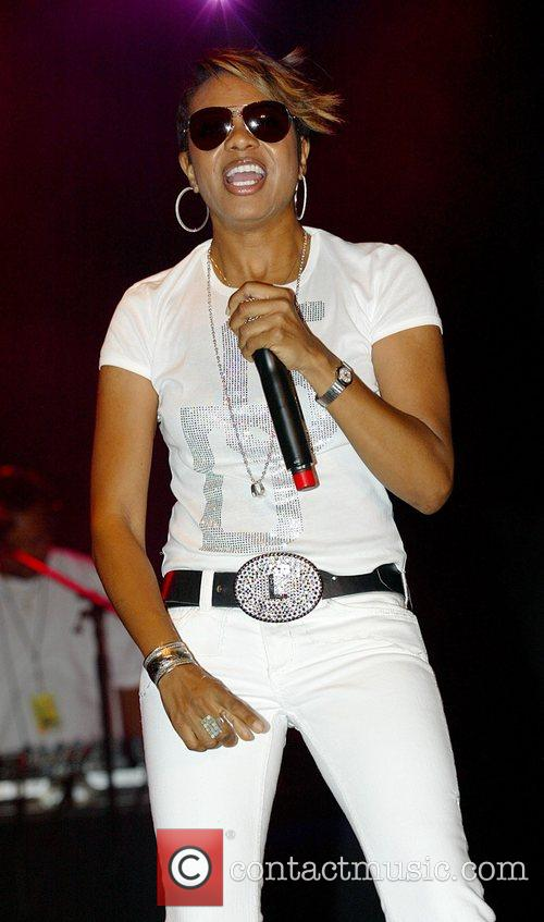 MC Lyte performing at The 25th Anniversary of...