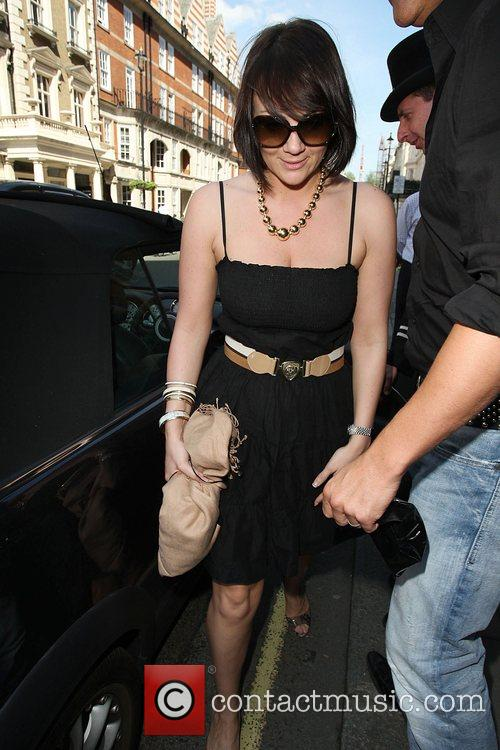 Martine Mccutcheon Leaving Claridges Hotel London, England